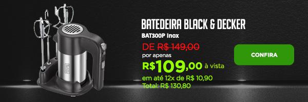 Batedeira Black & Decker BAT300P Inox