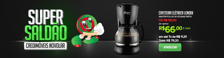 Cafeteira Elétrica Lenoxx Master PCA 021 30 Xícaras Preta