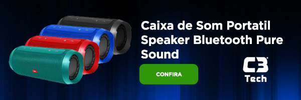 Caixa de Som Portatil Speaker Bluetooth Pure Sound C3Tec