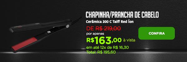 Chapinha/Prancha de Cabelo Cerâmica 200 C Taiff Red Íon
