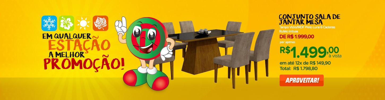 Conjunto Sala de Jantar Mesa Tampo Vidro/MDF Preto