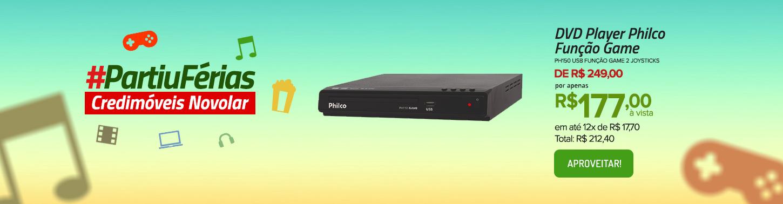 DVD Player Philco PH150 com USB Função Game 2 Joysticks