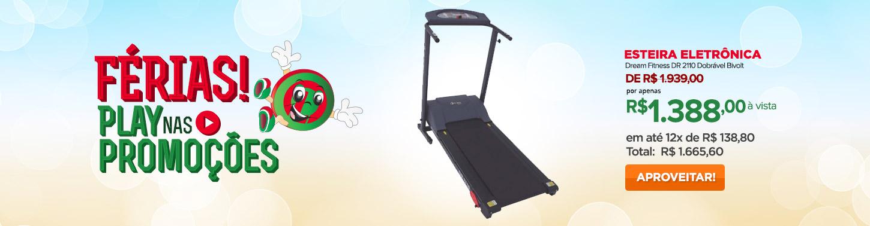 Esteira Eletrônica Dream Fitness DR 2110 Dobrável Bivolt