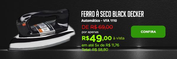 Ferro à Seco Automático - Black&Decker VFA-1110