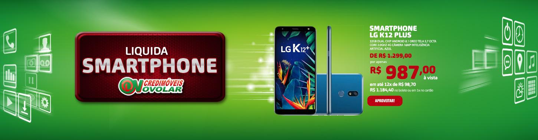 Smartphone LG K12 Plus 32GB Dual Chip Android 8.1 Oreo Tela 5,7 Octa Core 2.0GHz 4G Câmera 16MP Inteligência Artificial Azul