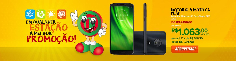Smartphone Motorola Moto G6 Play Indigo Tela 5.7