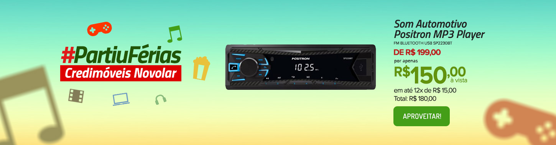 Som Automotivo Positron MP3 Player FM Bluetooth USB SP2230BT