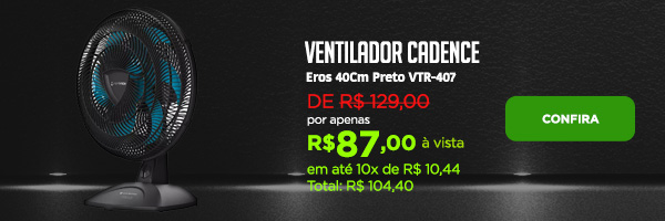 Ventilador Cadence Eros 40Cm Preto VTR-407