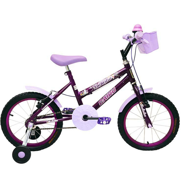 Bicicleta Infantil Cairu Fadinha Aro 16 Feminina Lilás