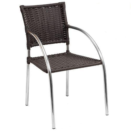 Cadeira de Jardim Alegro C151 Aluminio e Fibra Sintética Castanho