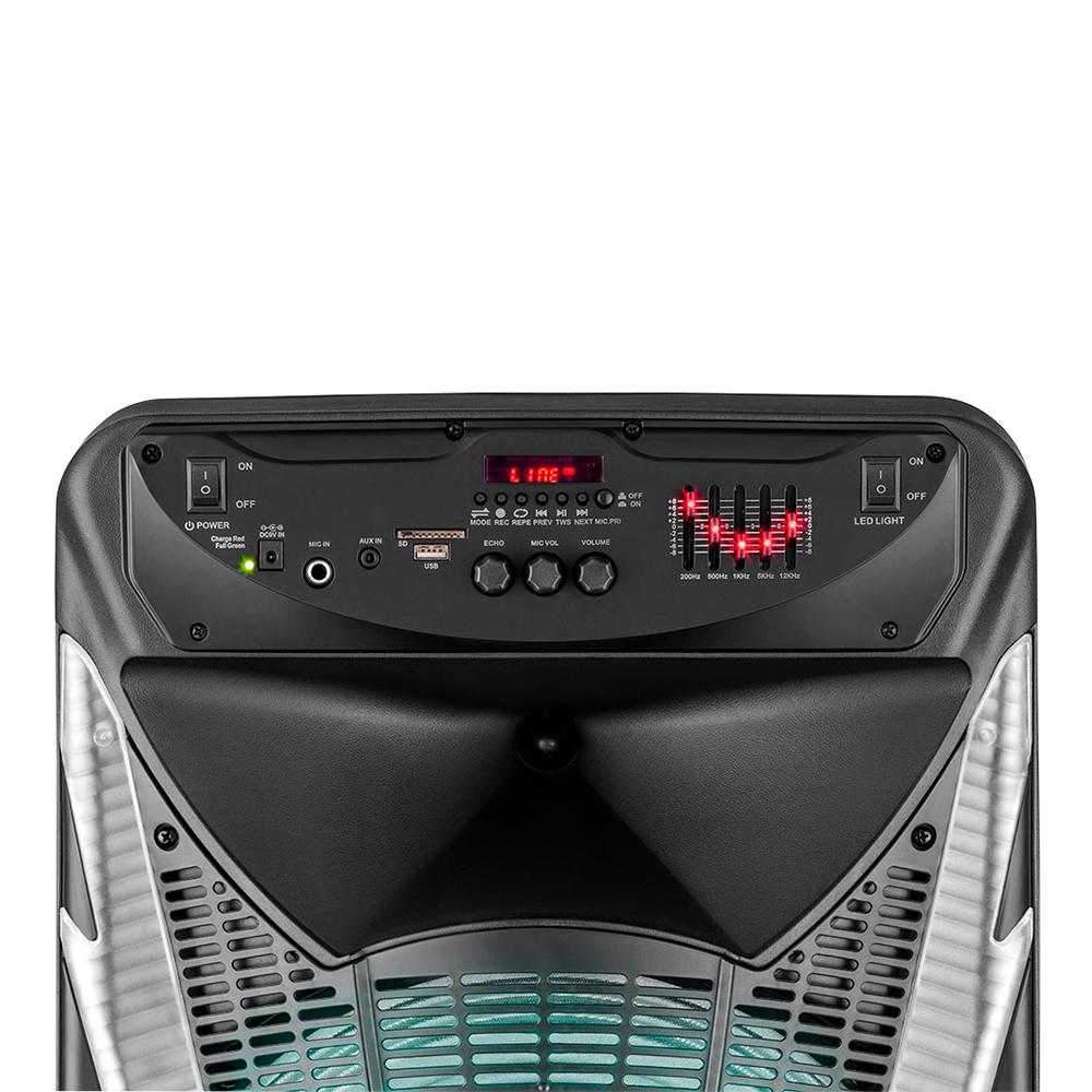 Caixa Amplificada Multilaser Sunny SP341 com Bluetooth USB Micro SD e Rádio FM 700W Preto Bivolt