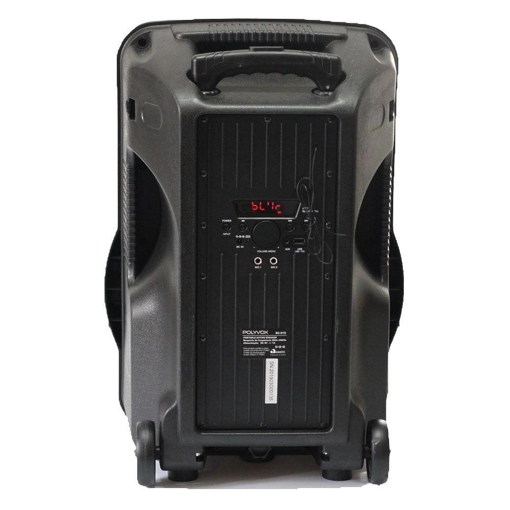 Caixa De Som Amplificada XC-515 500W Polyvox Bluetooth Usb 220V