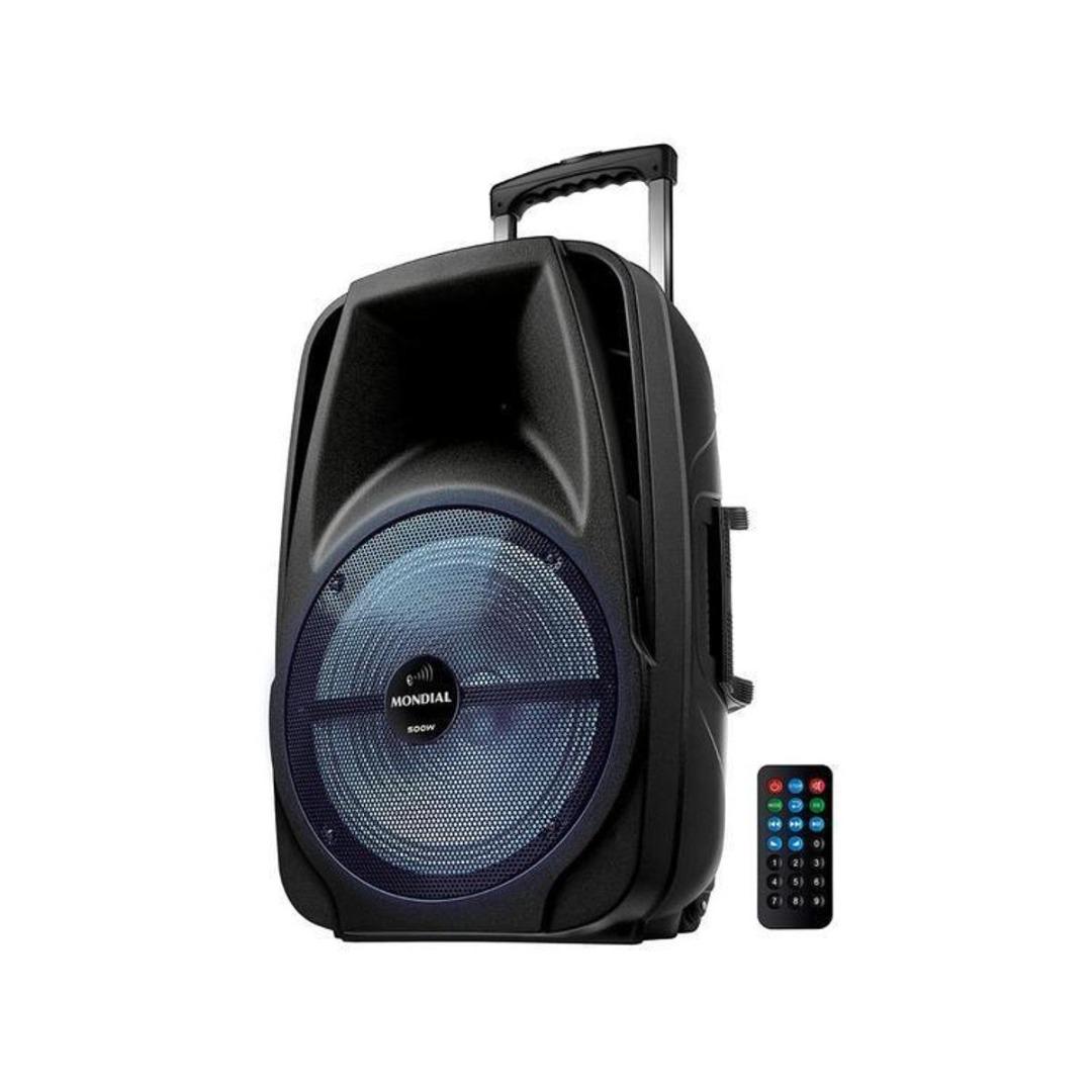 Caixa de Som Mondial CM-500 Bluetooth Amplificada USB 500W Preto
