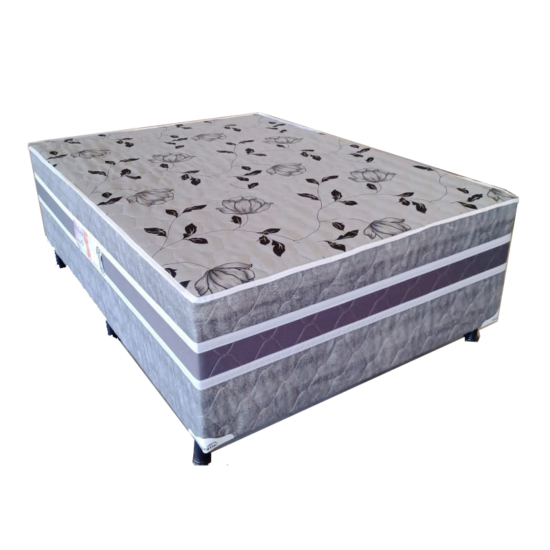 Cama Box Conjugada Anatomic Casal Unibox Cinza 188x138x55,5
