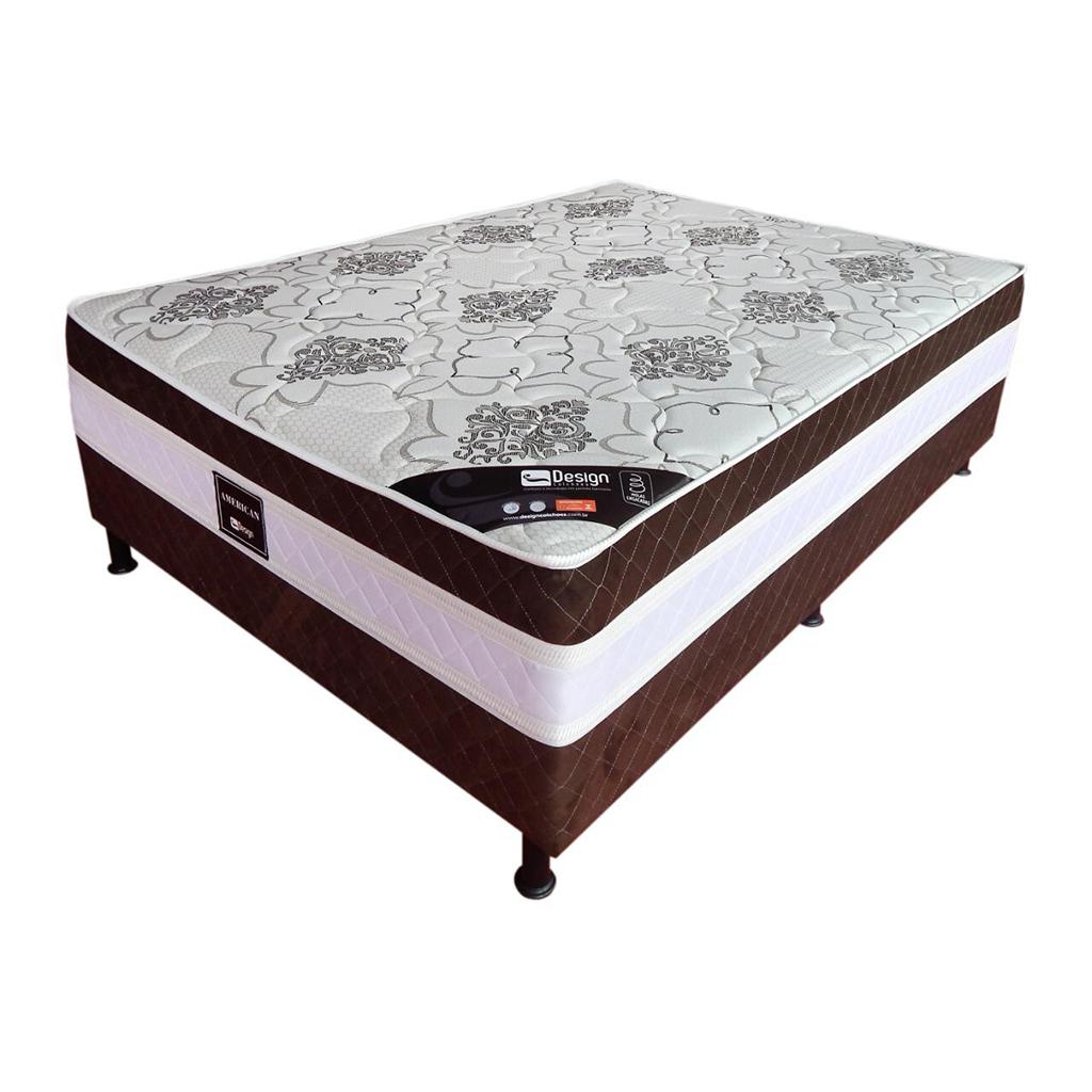 Cama Box Ouro Malha Design 138x64 Espuma D28 Certificado pelo INMETRO