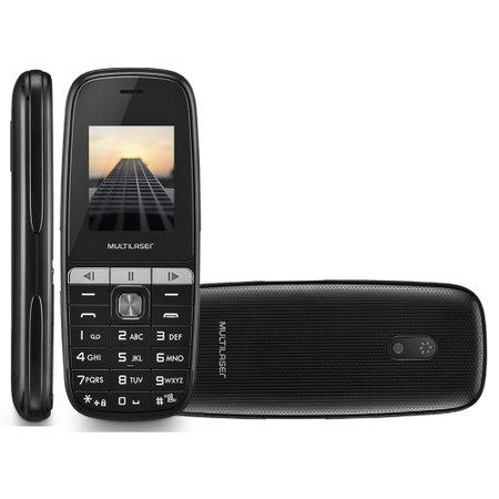 Celular Multilaser UP Play P9076 Dual Chip Tela 1.8 MP3 Bluetooth Câmera Preto