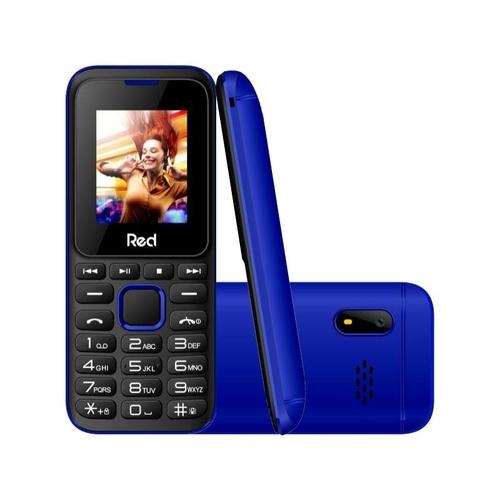 Celular Red Mobile Fit Music II M011G Preto/Azul Tela 1.8 Câmera VGA Expansível até 8GB