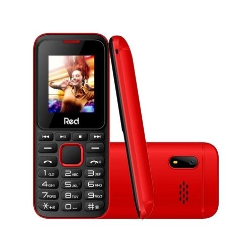 Celular Red Mobile Fit Music II M011G Preto/Vermelho Tela 1.8 Câmera VGA Expansível até 8GB