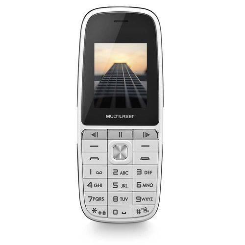 Celular UP Play Dual Chip MP3 com Câmera Branco Multilaser P9077