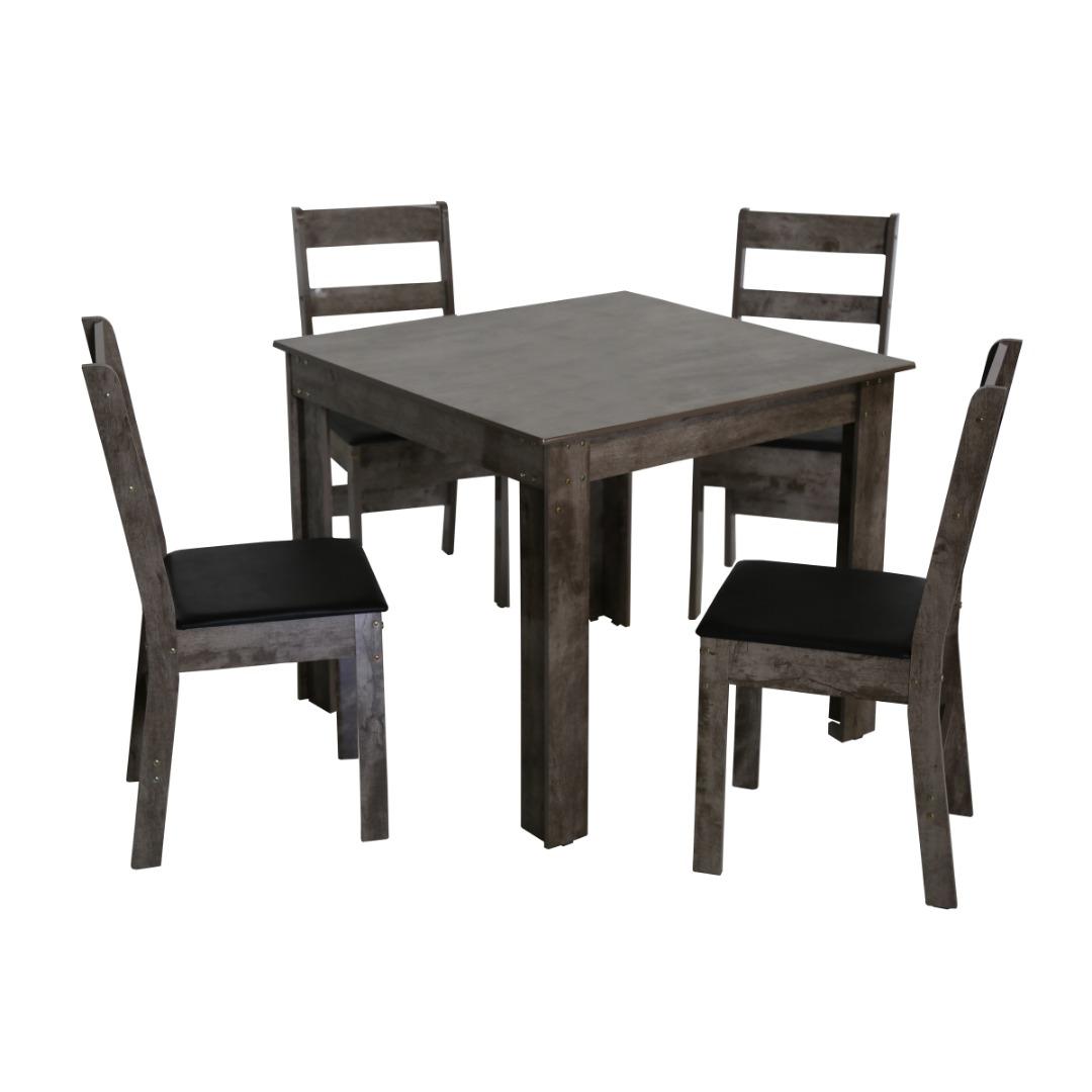 Conjunto de Mesa quadrada com 4 Cadeiras Arezzo São Carlos Rovere