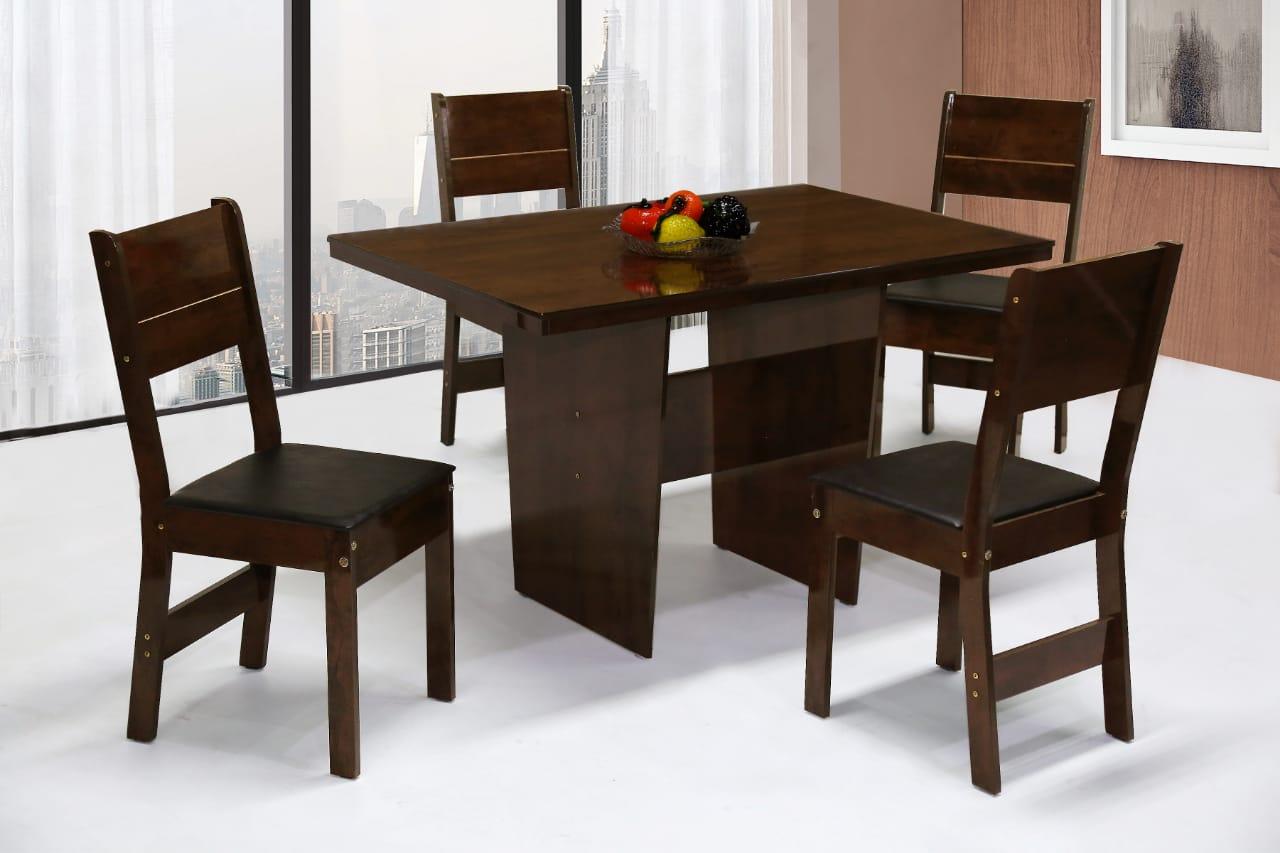 Conjunto de Mesa retangular com 4 Cadeiras Arezzo São Carlos Café/Demolição