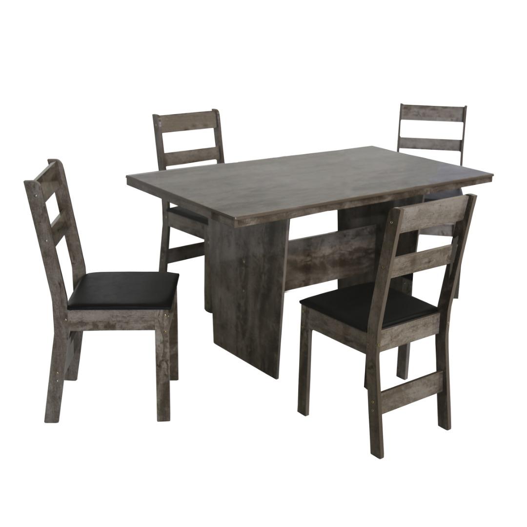 Conjunto de Mesa retangular com 4 Cadeiras Arezzo São Carlos Rovere