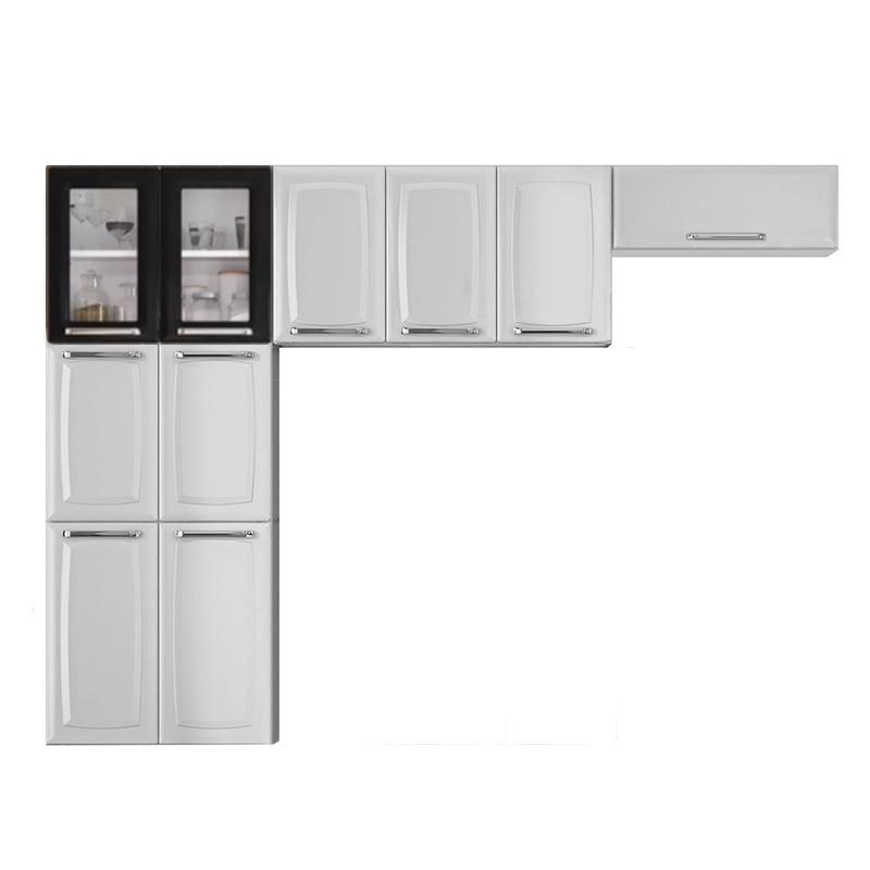 Cozinha Compacta Itatiaia Luce 3 Peças IPH-70+IP3-105+IPDLV-70 MX Branca/Preta
