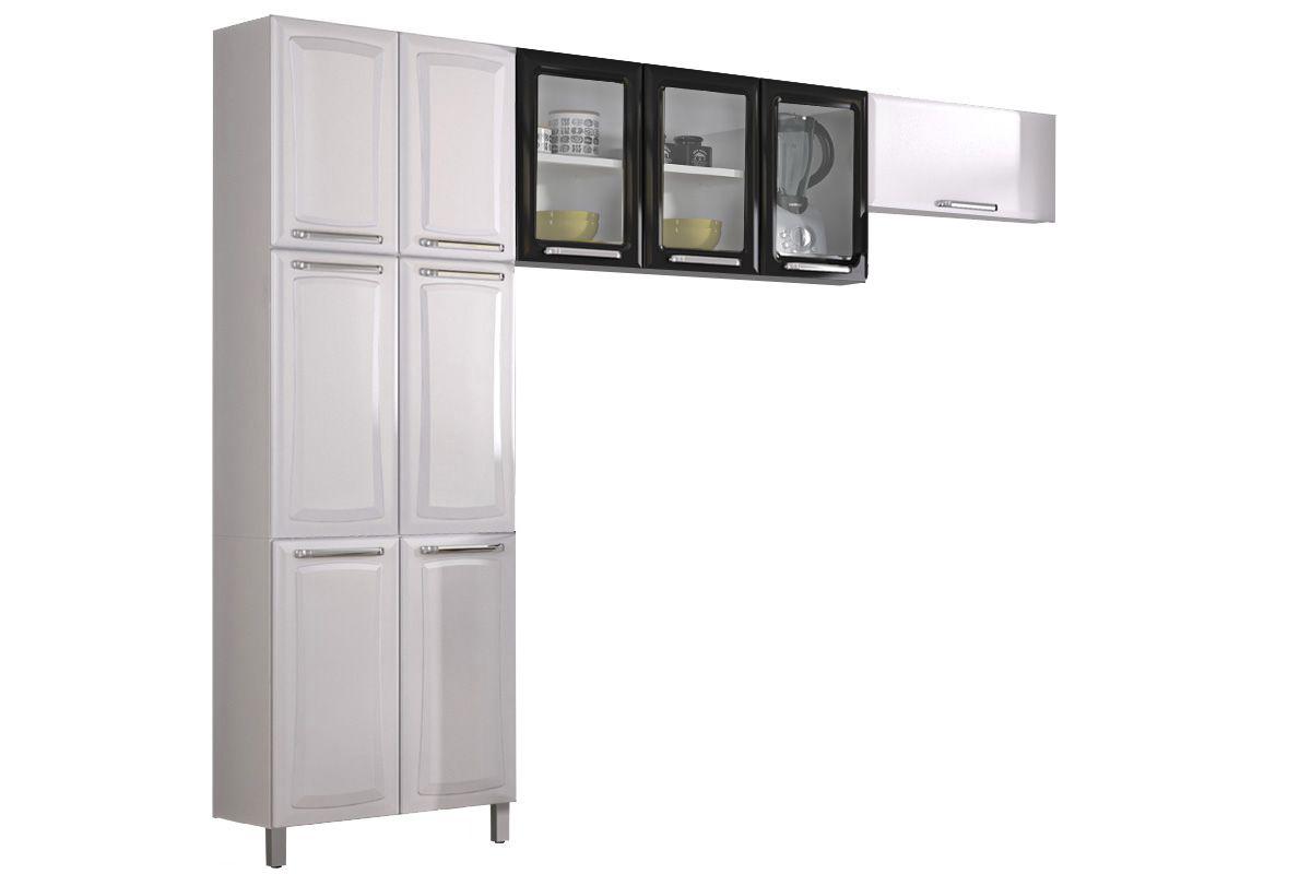 Cozinha Compacta Itatiaia Tarsila 10 Portas Branco/Preto