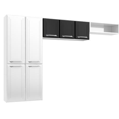 Cozinha de Aço Telasul Topázio Smart 3 Peças Branco/Preto