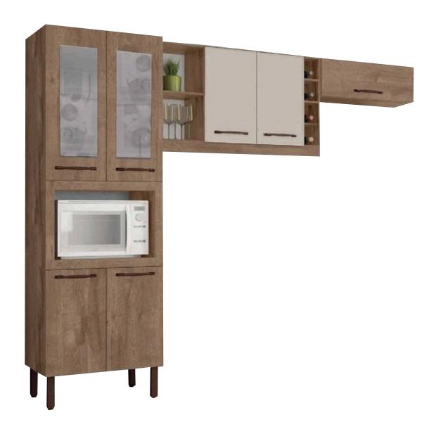 Cozinha Tuboarte Larissa 7 Portas Amêndoa/Off White