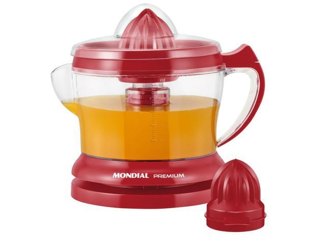 Espremedor de Frutas Mondial Red Premium E-23 30W 1,25L Vermelho