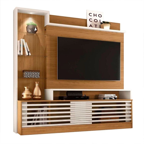 Estante Home Theater para TV até 55 Madetec Frizz Prime Naturale/Off White