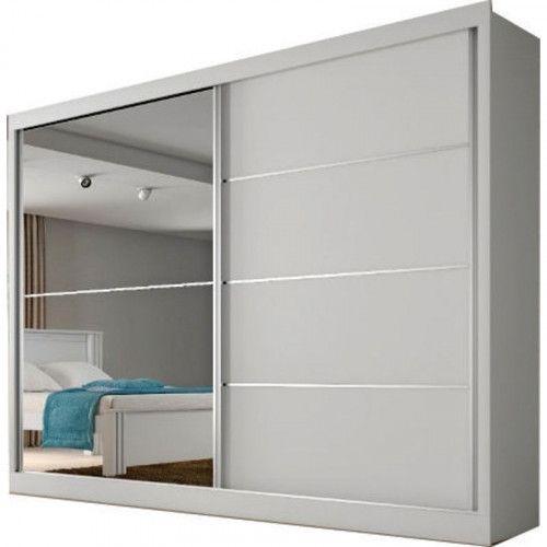 Guarda Roupa Mademarques Verona Plus 2 Portas Com 1 Espelho Branco