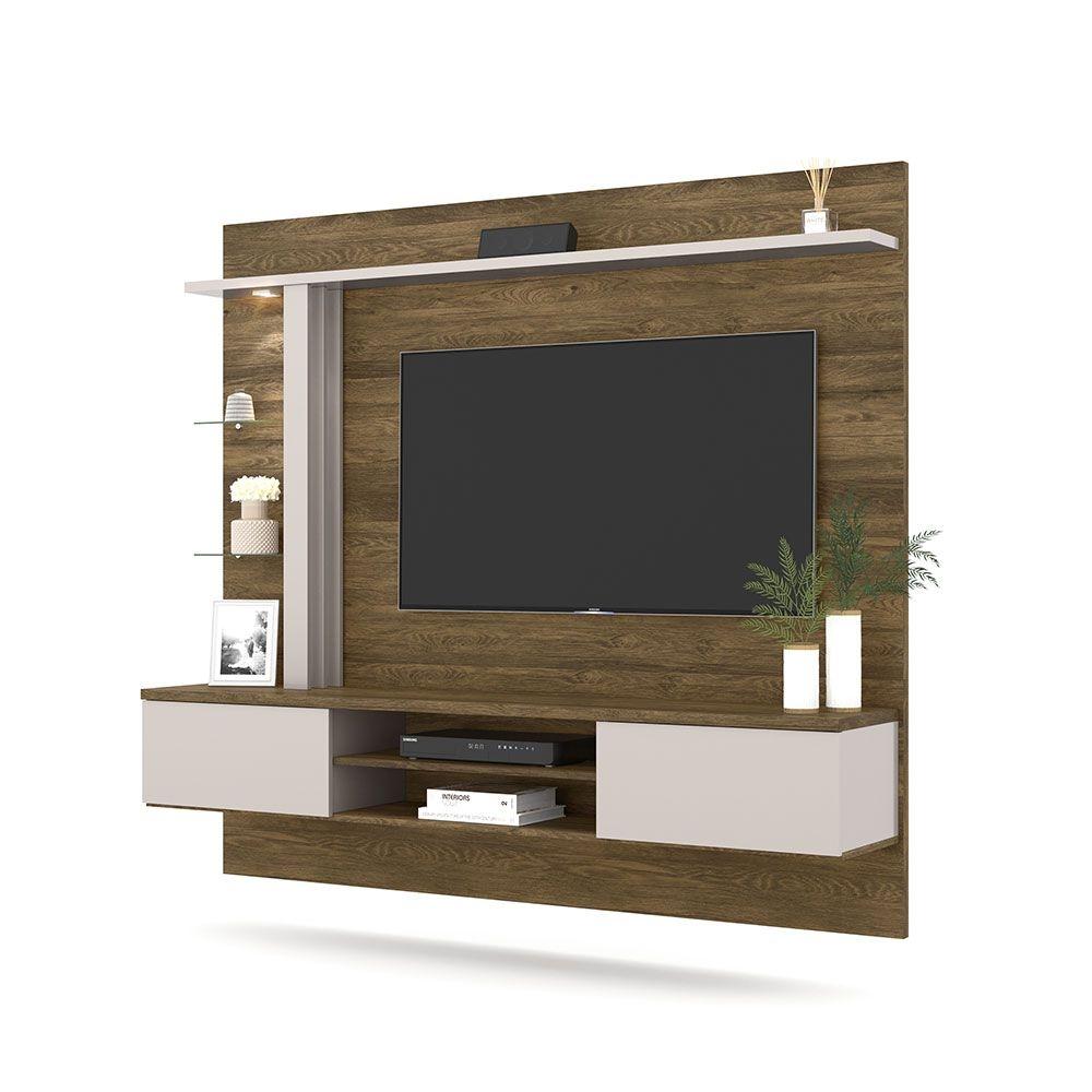 Home Suspenso Salinas Colibri para TV de até 70 Polegadas Canela/Off White