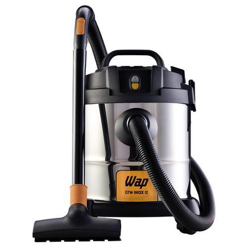 Aspirador De Pó E Liquidos Wap Inox 12 1400w 12 Litros 220v Com Bocal De Sopro Para Uso Comercial