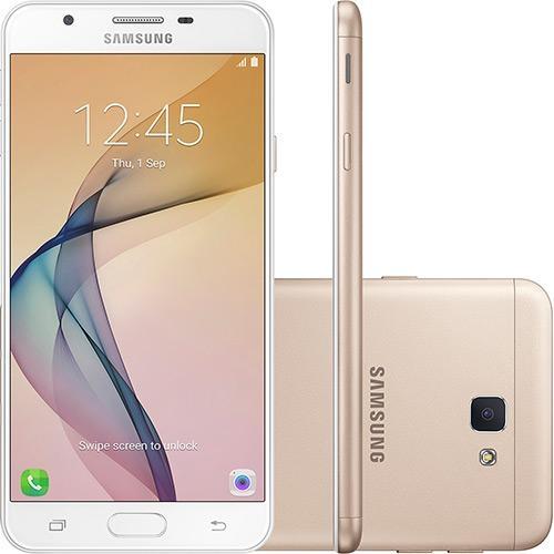 Smartphone Samsung Galaxy J7 Prime Dual Chip Android Tela 5.5 32GB 4G Câmera 13MP Dourado