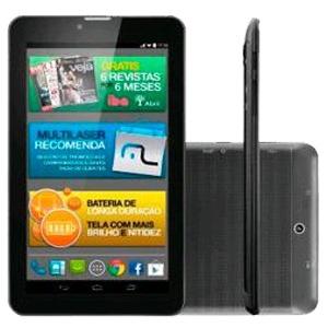 Tablet Multilaser 7 Polegadas M7I3G Quad Core Preto 8GB NB244