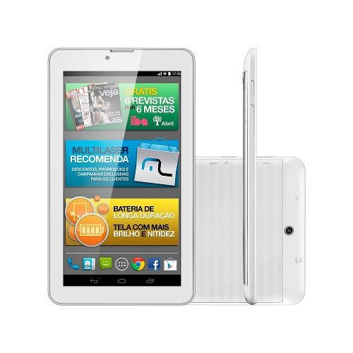 Tablet M7I3G Quad 8gb 7P Gps Branco Multilaser  Nb245
