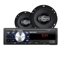 Kit Automotivo AU953 Multilaser Rádio MP3 Player One + 02 pares Alto Falantes 6 60W