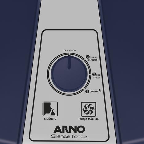 Ventilador de Mesa Arno Silence Force VF45  40cm 6 Pás com 3 Velocidades Azul e Prata 220V