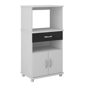Rack Multifuncional 4060 Pintura UV Branco/Preto Brilho Multimóveis