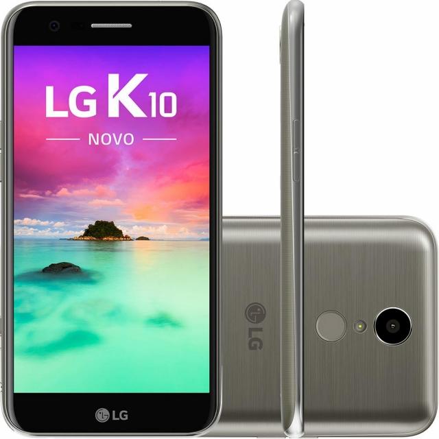 Smartphone LG K10 Novo Dual Chip Android 7.0 Tela 5,3 32GB 4G 13MP Titânio