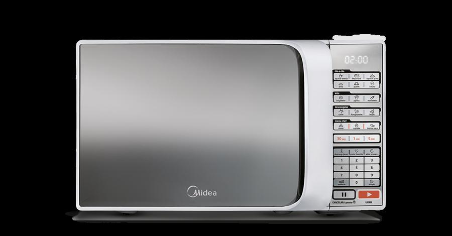 Forno de Micro-ondas Midea Liva 20 Litros Branco Espelhado 220V