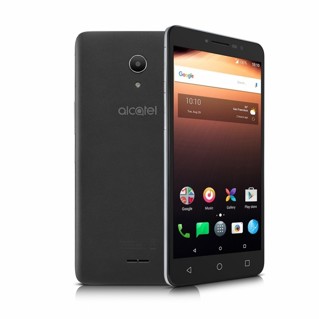 Smartphone Alcatel A3 XL 9008J 4G 16GB Tela de 6 Quad-Core Câmera 8MP Frontal 5MP  Flash  Android 7.0  Cinza
