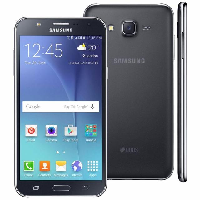 Smartphone Samsung Galaxy J7 Duos Preto com 16GB, Dual chip, Tela 5.5, 4G, Câmera 13MP, Android 6.0 e Processador Octa Core de 1.6 Ghz