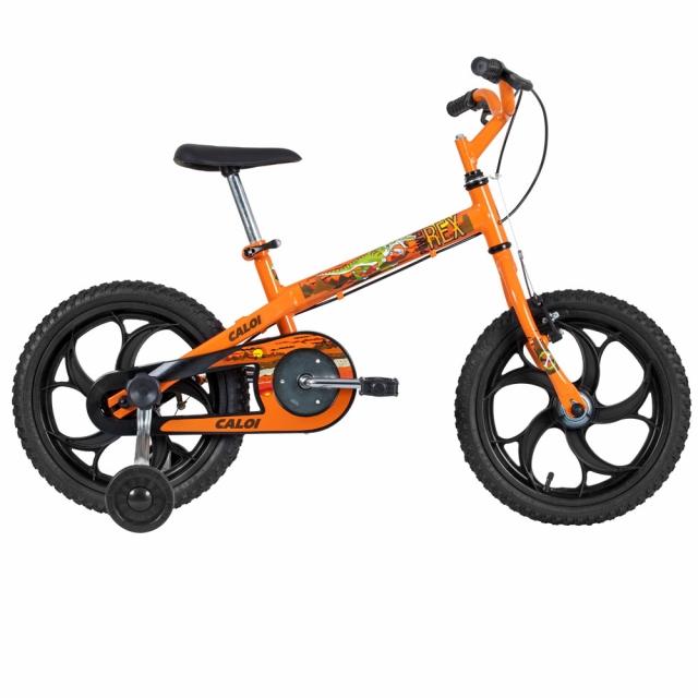 Bicicleta Infantil Aro 16 Caloi Power Rex  Laranja