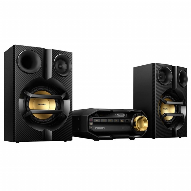 Mini System Hi-Fi Fx10x/78, Cd, Usb, Mp3, Bluetooth, Max Sound, 200w Rms - Philips