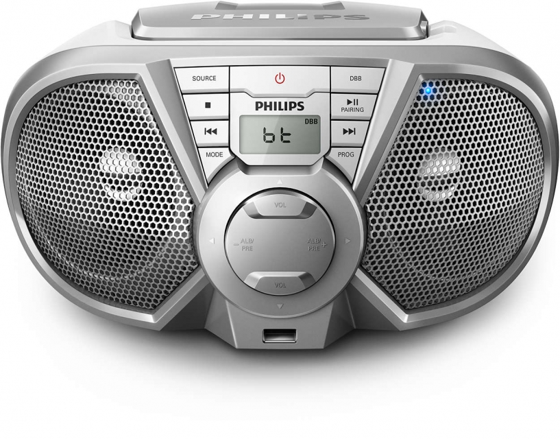 Radio Portatil CD,USB,FM,BLUETOOTH PX3125STX78 Prata Philips