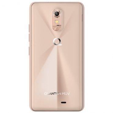 Smartphone Quantum MUV Mirage Gold - Dual Chip, 4G, Tela HD 5.5, Câmera 13MP + frontal 8MP, Quad Core 1.0Ghz, 16GB, 1GB RAM, Android 6.0