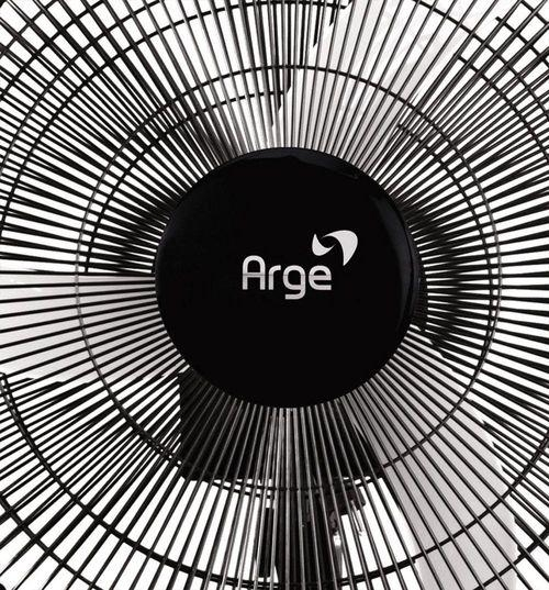 Ventilador Stylo Parede Preto Grade 50cm Preta 140w - Arge 220V